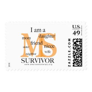 Superviviente del ms - hembra estampillas