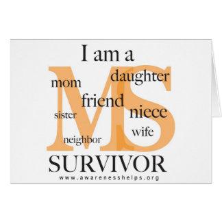 Superviviente del ms - hembra tarjeta de felicitación