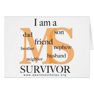 Superviviente del ms - varón tarjeta de felicitación