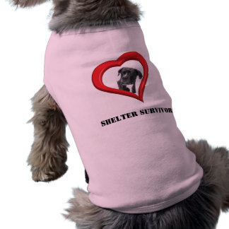 Superviviente del refugio - ropa del mascota playera sin mangas para perro