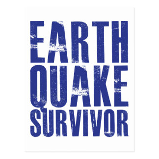 Superviviente del terremoto - azul postal