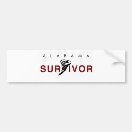 Superviviente del tornado etiqueta de parachoque