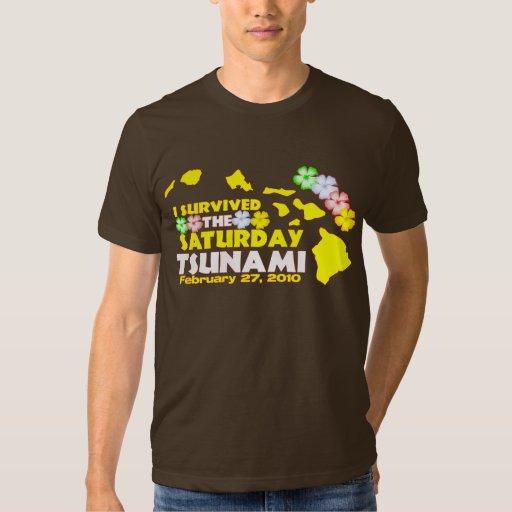 Superviviente del tsunami de sábado playeras