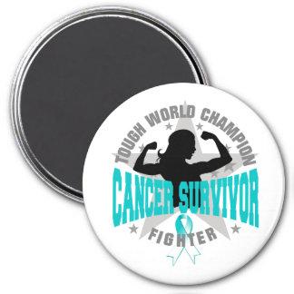 Superviviente duro del cáncer de cuello del útero imán para frigorífico