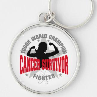 Superviviente duro del cáncer de hueso llaveros personalizados