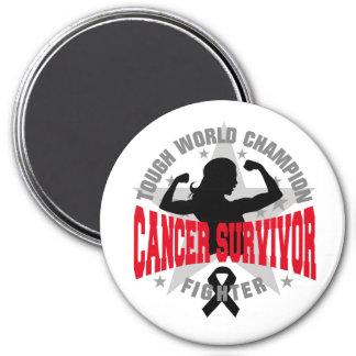 Superviviente duro del cáncer del cáncer del melan imanes