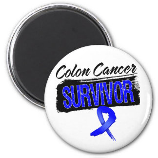 Superviviente fresco del cáncer de colon imán redondo 5 cm