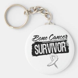 Superviviente fresco del cáncer de hueso llaveros personalizados