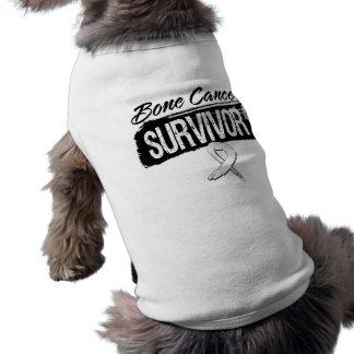 Superviviente fresco del cáncer de hueso playera sin mangas para perro
