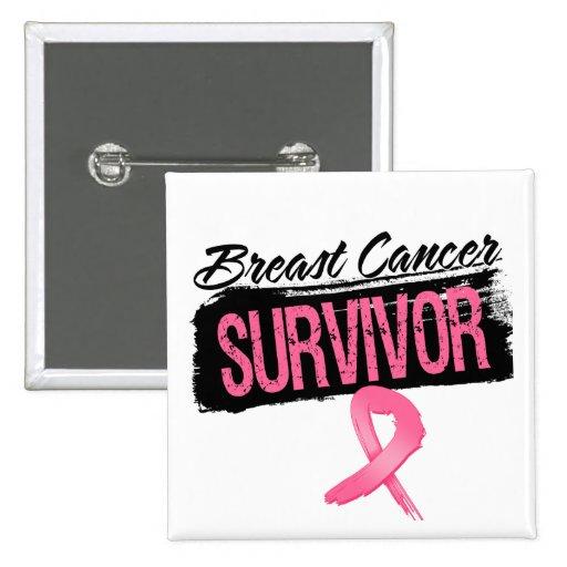 Superviviente fresco del cáncer de pecho pins