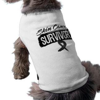 Superviviente fresco del cáncer de piel playera sin mangas para perro