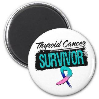 Superviviente fresco del cáncer de tiroides imán redondo 5 cm