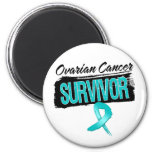 Superviviente fresco del cáncer ovárico imán de frigorifico