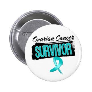 Superviviente fresco del cáncer ovárico pin redondo de 2 pulgadas