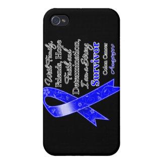 Superviviente fuerte de la ayuda del cáncer de col iPhone 4 funda