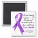 Superviviente fuerte de la ayuda del cáncer pancre imán de nevera