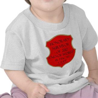 Superviviente honorario del extremo 2012 del mundo camisetas
