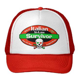Superviviente italiano del suegros gorros bordados