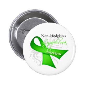 Superviviente - linfoma Non-Hodgkin Pin Redondo De 2 Pulgadas