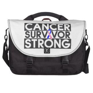Superviviente masculino del cáncer de pecho fuerte bolsas para portátil