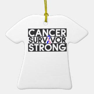 Superviviente masculino del cáncer de pecho fuerte adorno para reyes
