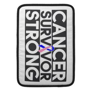 Superviviente masculino del cáncer de pecho fuerte fundas para macbook air