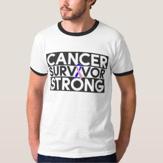 Superviviente masculino del cáncer de pecho fuerte playera