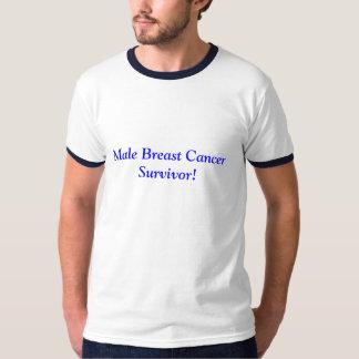 ¡Superviviente masculino del cáncer de pecho! Playeras