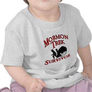 superviviente mormón del viaje camisetas