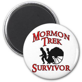 superviviente mormón del viaje imán redondo 5 cm