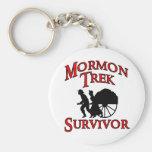 superviviente mormón del viaje llavero redondo tipo pin
