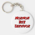 Superviviente mormón del viaje llaveros
