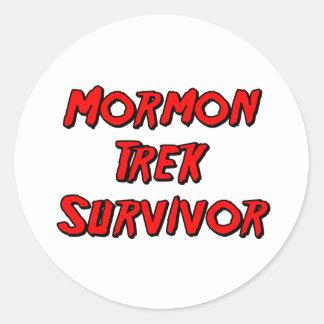 Superviviente mormón del viaje pegatinas