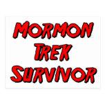 Superviviente mormón del viaje postal