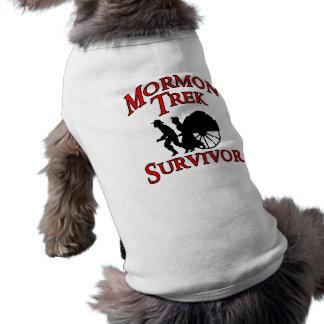 superviviente mormón del viaje prenda mascota