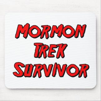 Superviviente mormón del viaje tapete de ratones