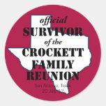 Superviviente oficial de la reunión de familia de etiquetas redondas