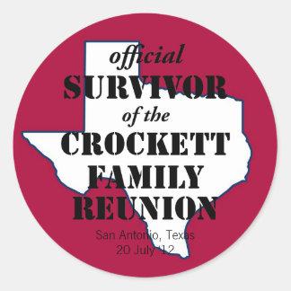 Superviviente oficial de la reunión de familia de pegatina redonda