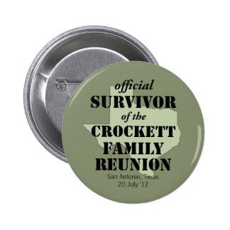 Superviviente oficial de la reunión de familia de  pin