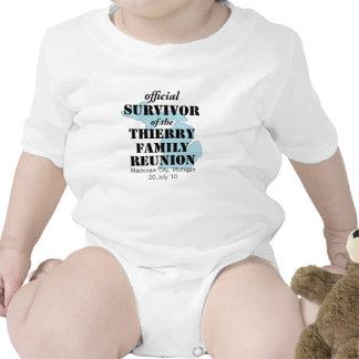 Superviviente oficial de la reunión de familia - trajes de bebé