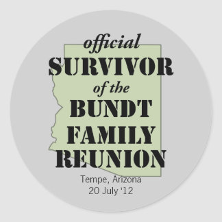 Superviviente oficial pegatina redonda
