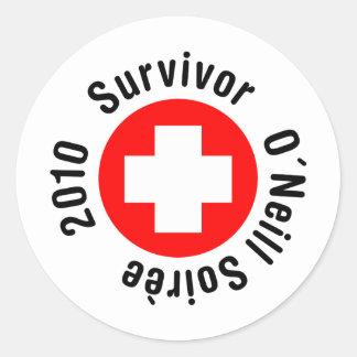 Superviviente O'Neil Soirée 2010 Pegatinas Redondas