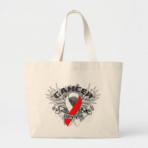 Superviviente oral con alas Grunge del cáncer de l Bolsas