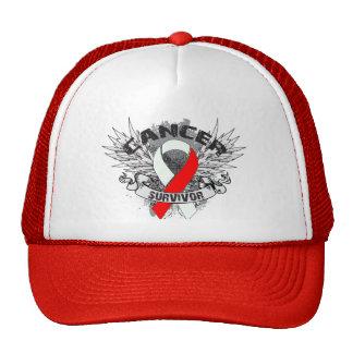 Superviviente oral con alas Grunge del cáncer de l Gorros Bordados