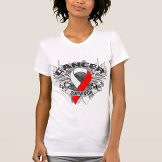 Superviviente oral con alas Grunge del cáncer de Remeras