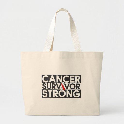 Superviviente oral del cáncer fuerte bolsa lienzo