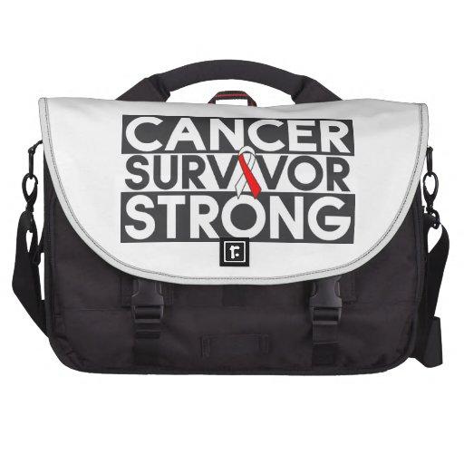 Superviviente oral del cáncer fuerte bolsas para ordenador