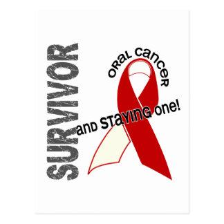 Superviviente oral del cáncer tarjetas postales