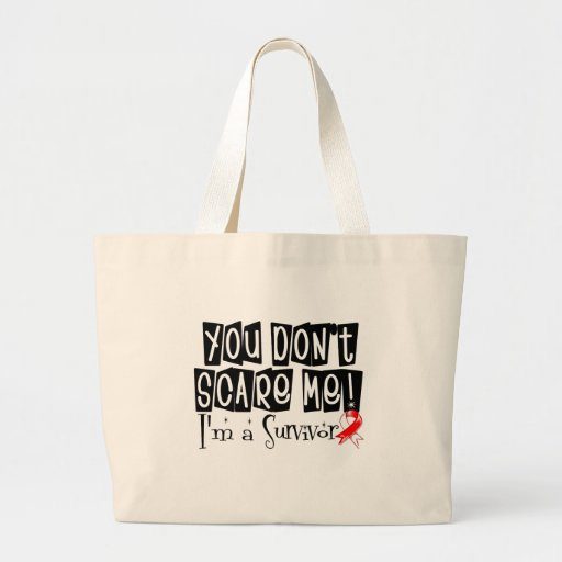 Superviviente oral del cáncer usted no me asusta bolsa lienzo