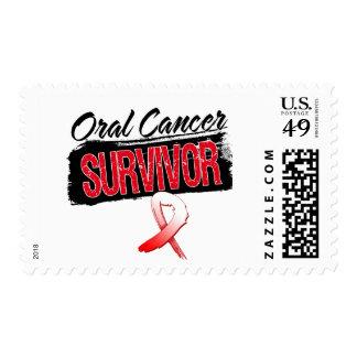 Superviviente oral fresco del cáncer sellos